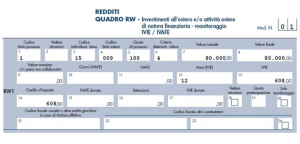 rw conto estero